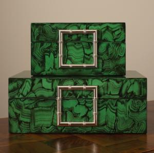 Faux Malachite Jewelry Boxes | Global Views