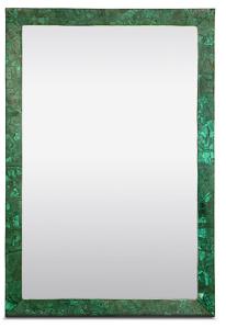 Rectangular  Malachite Vivian Mirror | Made Goods