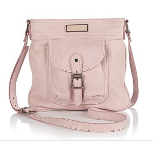 Burberry Tumbled Leather Crossbody Bag