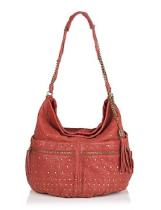 Olivia Harris Studded Lambskin Ball Hobo