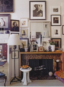 O'Brien's apartment showcases his inspirational art collection.
