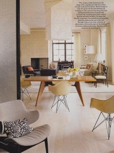 A fine mix of fine French and casual American modernist furnishings.