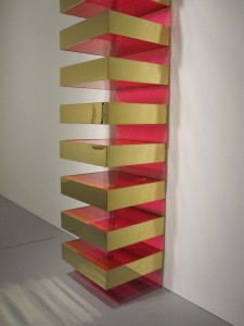 Metal and plastic sculpture by Donald Judd, 1969.
