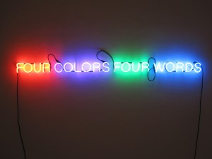 Neon art by Joseph Kosuth.