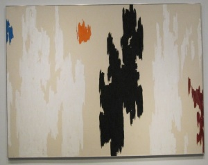 Oil on canvas of Spray by Adolph Gottlieb, 1959.