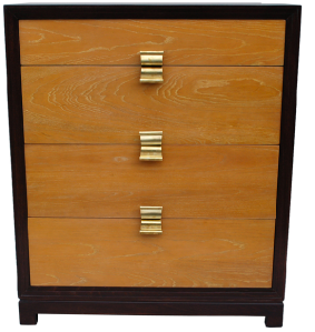 olid cerused ash chest of drawers designed by Paul Frankl for Brown Saltman.