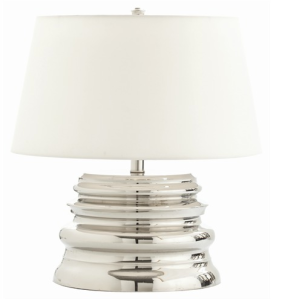 Waterfall Large Polished Nickel Lamp