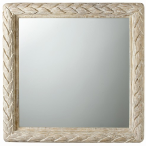 Braided Petals Rectangle Wood Mirror