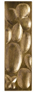 Raindrop Brass Large Rectangle Panel