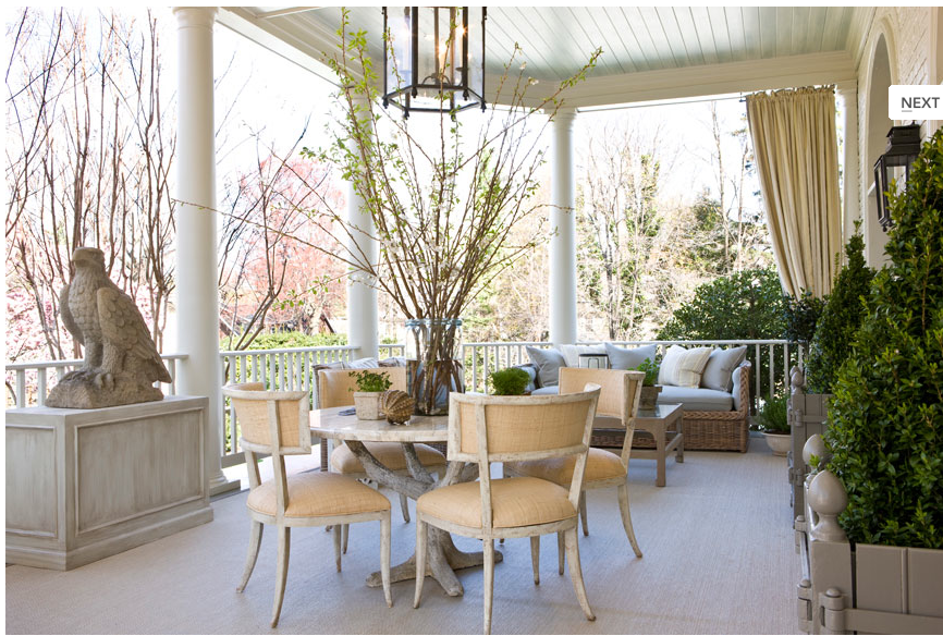 Conservatory Terrace by Andrew Law Interior Design.