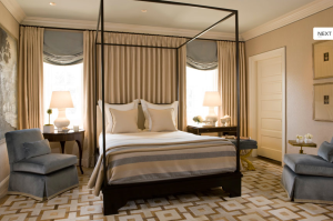 Guest Bedroom by Michael Hampton Design.