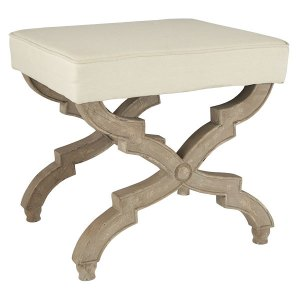 European and elegant with a touch of rustic X-based stool  |  Wisteria
