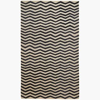 I love my chevron pattern. This hand-knotted cut pile chevron in onyx is 100% silk with cotton warp.