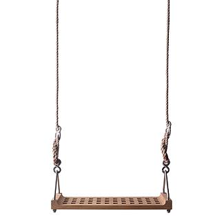 Wwwwhhhheeeeeeeeeeeeee! Open waffle plantation grown teak and adjustable nylon cording. Swinging has never been so joyful! $297