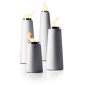 "These clean Lighthouse Outdoor Torches are a modern answer to ""Let's Get this Party Stared Right"". $90 - $230"
