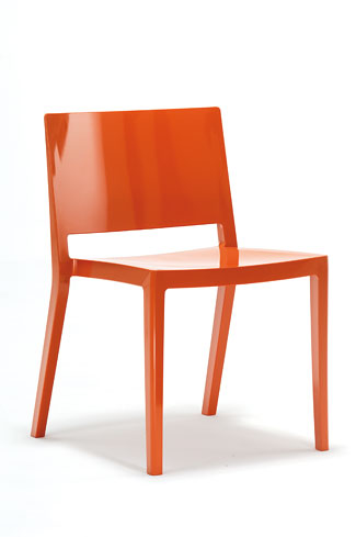 This comfortable lacquered orange Lizz chair would look marvelous next to those turquoise waters of your new home pool. $285