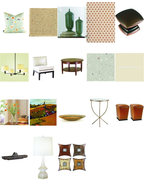 Suggested items for the space.