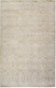 This wool and silk Over Undulating Lines rug in silver would be most beautiful in a bedroom. It's on my wish list. t
