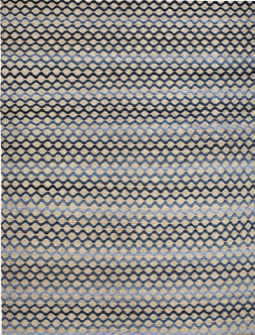 Stimulating and way soft, this 100% Silk with cotton warp Ombre Wave Rug in Ocean takes me on an immediate vacation.
