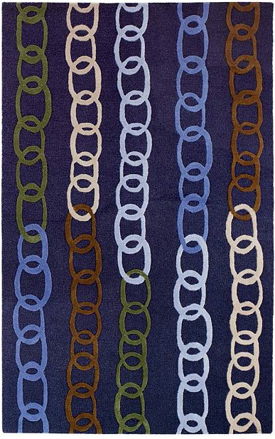 Colorful 100% wool Chainlink Rug | PotteryBarn Teen