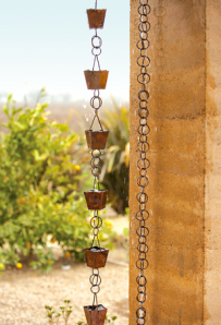 Zen out with a Watercourse Copper Rain Chain | Napa Style