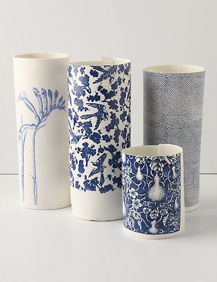 Paper Sketch Vases at Anthropologie