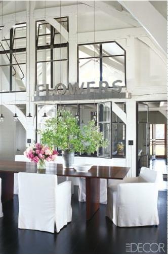 Meg Ryan Dining Room Elle Decor