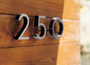 The Neutra House Numbers beckon your neighbors to invite themselves over more often then you might like. $40