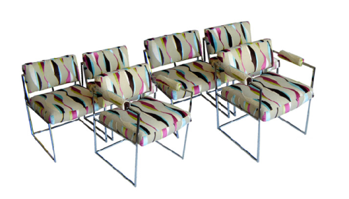 Milo Baughman Chrome Dining Chair