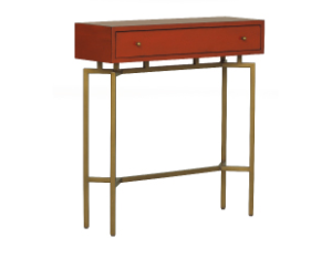 Regal, petite and the color of Hermes, this Ming console is devine in a small entryway | MG+BW.