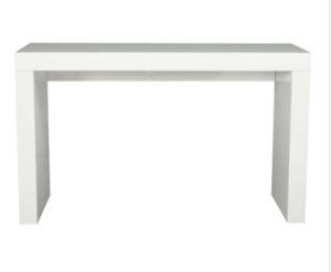 Simplicity in hi gloss white, the Oslo console really works anywhere. | Sitcom