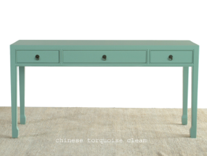 The Chinese Turquoise console sea glass color reminds me of the beach! | RedEgg