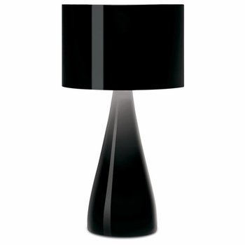 Jazz up your table with this tall black lacquered poly resin accent lamp | Y Lighting
