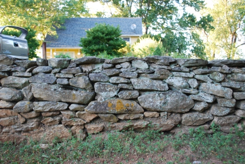 Old stone walls framing the perimeter.