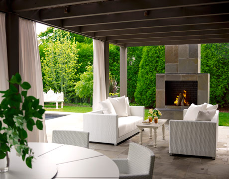 My idea of simplicity. Very cool outdoor fireplace!