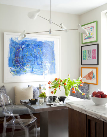 """Display drawings ina colorful frame or white frame with mat. They are full of spirit and meaningful"", says Eric Cohler."