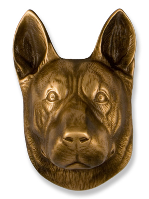 Bronze German Shepherd Door Knocker, $100