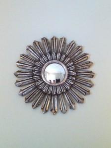 Silver vintage starburst