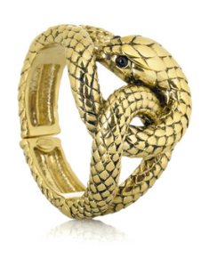 Serpent Brass Bracelet, $615 | Robert Cavalli