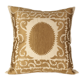 Golden Suzani Pillow, $175 | Jayson Home & Garden
