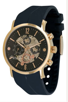 Kenneth Cole New York Pinstripe Dial Watch, $175   Nordstrom