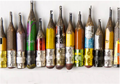 Pencil sculptures
