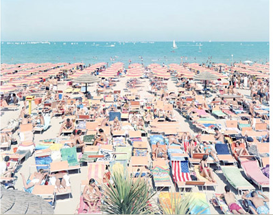 """Papeete Beach Regatta"" by Massimo Vitali"
