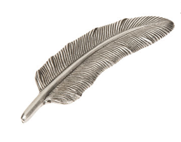 Pewter Feather Paperweight | Barney's