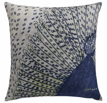 Peacock Feather Pillow | Crate & Barrel