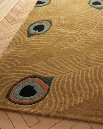Peacock Rug | Neiman Marcus