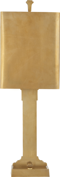 Silhouette Column Library Light in hand-rubbed brass, $525 | Circa Lighting