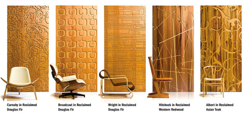 Five of the patterns available at B+N Industries, Inc.