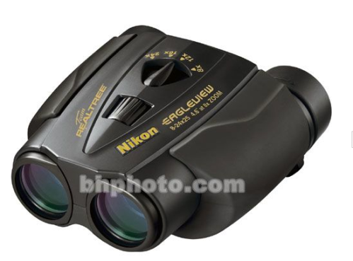 "Watch the wilderness go by in the park or the teams first touchdown with Nikon's sleek binoculars. Comes with a ""No-Fault"" lifetime warranty!"
