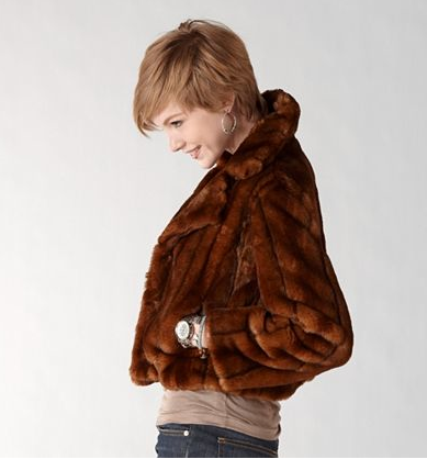 Christina Fur Jacket, $148 | Fossil.com